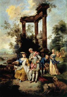 Johann Conrad Seekatz: Rodzina Goethego w strojach pasterskich