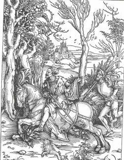 Albrecht Dürer: Rycerz i pachołek