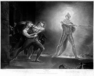 Johann Heinrich Füssli: Duch ojca ukazujący się Hamletowi