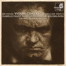 Ludwig van Beethoven: Koncert skrzypcowy (okładka płyty)
