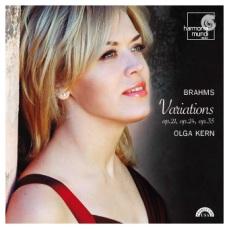 Johannes Brahms: Wariacje fortepianowe (okładka płyty)