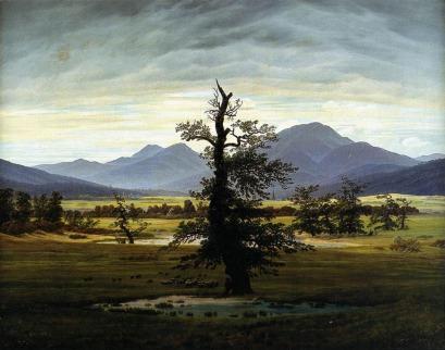 Caspar David Friedrich: Pejzaż wiejski o brzasku