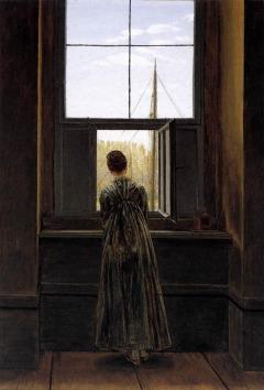 Caspar David Friedrich: Kobieta przy oknie