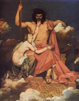 Jean Auguste Dominique Ingres: Jowisz i Tetyda