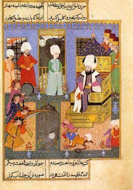 Muzycy przed sułtanem Mehmetem III