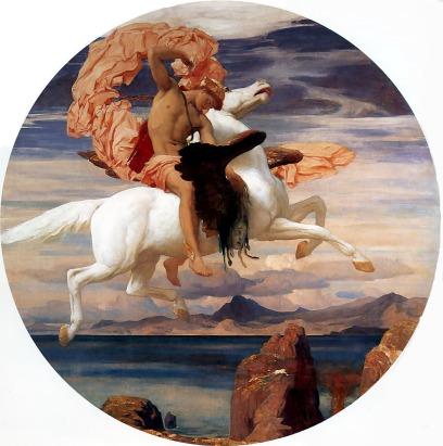 Frederick Leighton: Perseusz dosiadający Pegaza