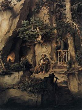 Moritz von Schwind: Muzyk i pustelnik
