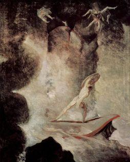 Johann Heinrich Füssli: Odyseusz pomiędzy Scyllą i Charybdą