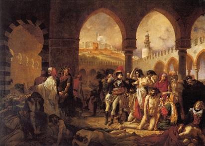 Jean Antoine Gros: Bonaparte odwiedzający szpital zadżumionych w Jaffie