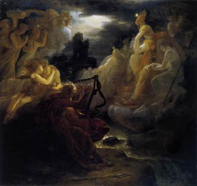 Francois Gerard: Osjan wzbudzający duchy poległych nad brzegami Lory