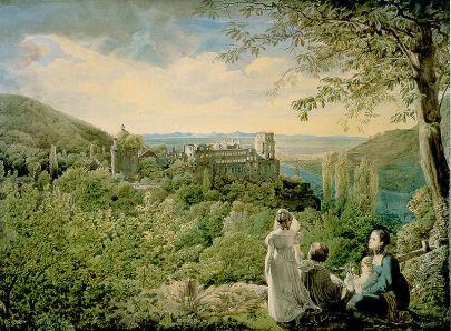 Carl PhilippFohr: Zamek w Heidelbergu