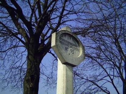 cmentarz nr 95 - słup informacyjny
