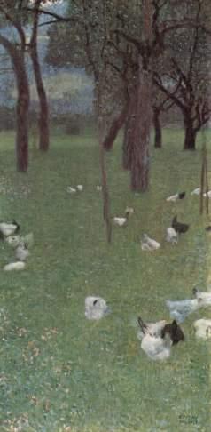 Gustaw Klimt: Ogród z kurami