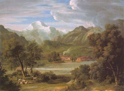 Joseph Anton Koch: Dolina Lauterbrunner