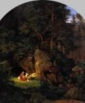 Adrian Ludwig Richter: św. Genowefa na puszczy