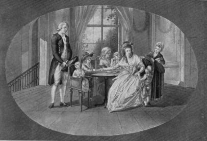 Werter wraz z Lottą i jej rodzeństwem