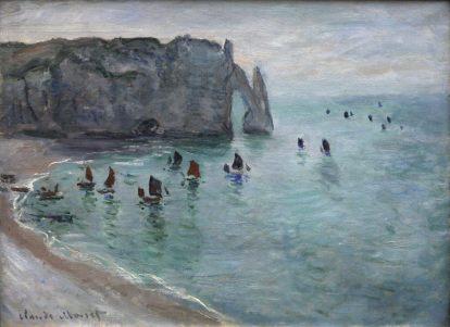 Claude Monet: Etretat. Łódki rybaków opuszczające port