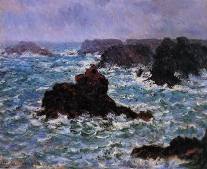 Claude Monet: Belle-Ile w trakcie deszczu