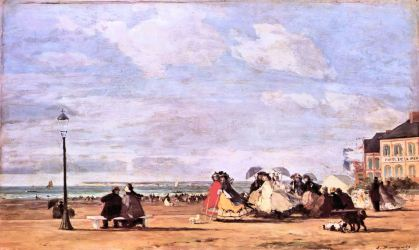 Eugène Boudin: Cesarzowa Eugenia na plaży w Trouville