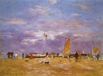 Eugène Boudin: Żaglówki w Deauville