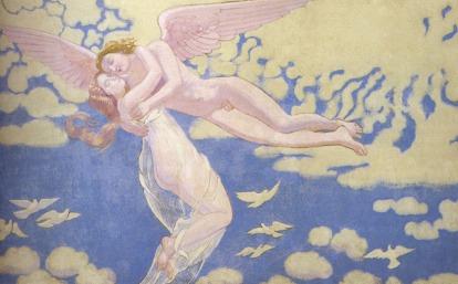 Maurice Denis: Kupidyn unoszący Psyche ku niebiosom