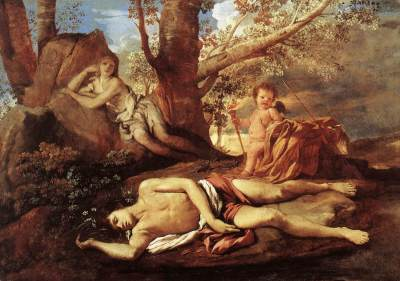 Nicolas Poussin: Narcyz i Echo