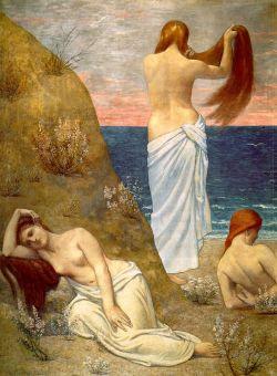 Pierre Puvis de Chavannes: Dziewczęta nad brzegiem morza