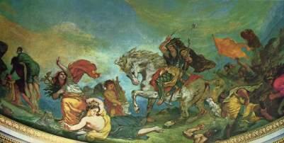 """""""Attyla i jego hordy opanowujący Italię i sztuki piękne"""", fragment dekoracji Palais Bourbon"""