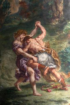 """""""Jakub walczący z Aniołem"""", kościół St. Sulpice w Paryżu"""