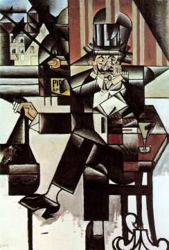Juan Gris: Mężczyzna w kawiarni