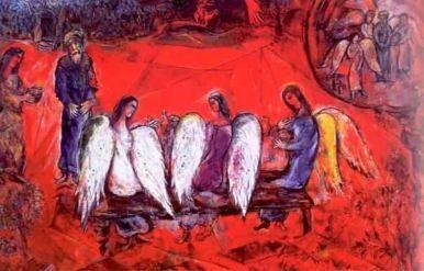 Marc Chagall: Abraham i Trzej Aniołowie