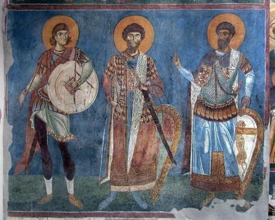 Wnętrze świątyni św. Pantalejmona w Nerezi