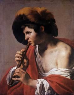 Hendrick Terbrugghen: Chopiec grający na flecie