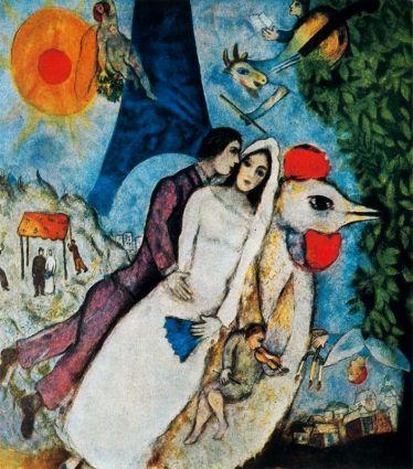 Marc Chagall: Kochankowie pod wieżą Eifflla
