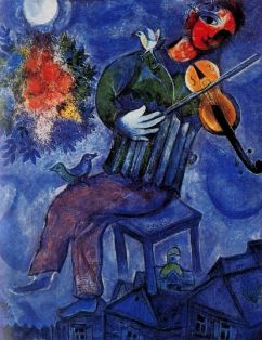 Marc Chagall: Błękitny skrzypek