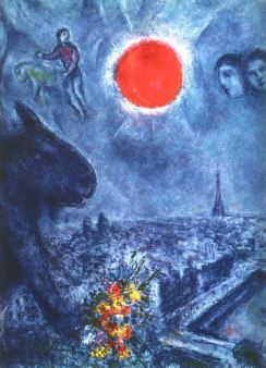 Marc Chagall: Słońce nad Paryżem