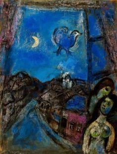 Marc Chagall: Wieczór w oknie