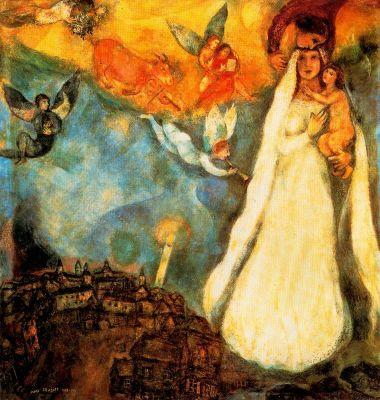 Marc Chagall: Wiejska Madonna