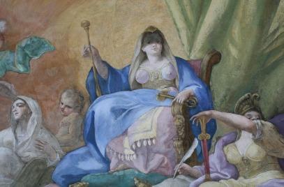 Daniel Gran: Alegoria dobrych rządów (detal)