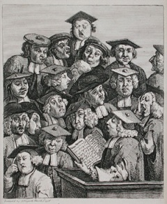 William Hogarth: Scholars at a lecture