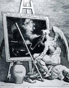 William Hogarth: Czas palący fajkę