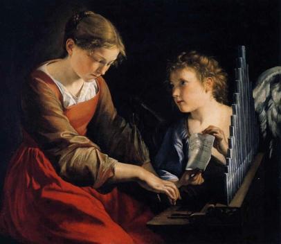 Orazio Gentileschi: Święta Cecylia z aniołem