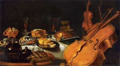 Pieter Claesz: Martwa natura ze skrzypcami