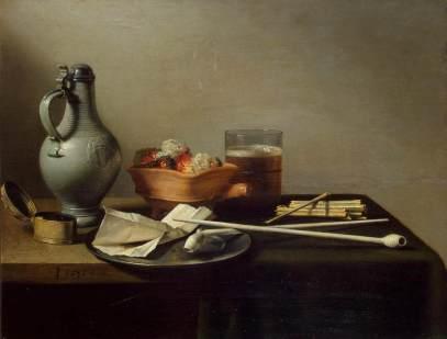 Pieter Claesz: Martwa natura z tytoniem