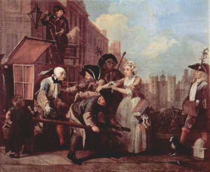 William Hogarth: Aresztowanie za długi (Żywot rozpustnika)