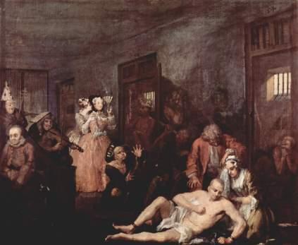 William Hogarth: W szpitalu dla obłąkanych