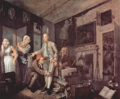 William Hogarth: Odziedziczenie majątku (Żywot rozpustnika)