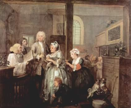 William Hogarth: Ślub ze staruchą (Żywot rozpustnika)