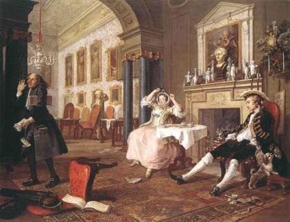 William Hogarth: Tuż po ślubie (Modne małżeństwo)
