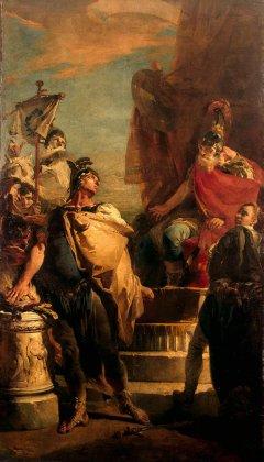 Giovanni Battista Tiepolo: Mucjusz Scaevola przed Porsenną